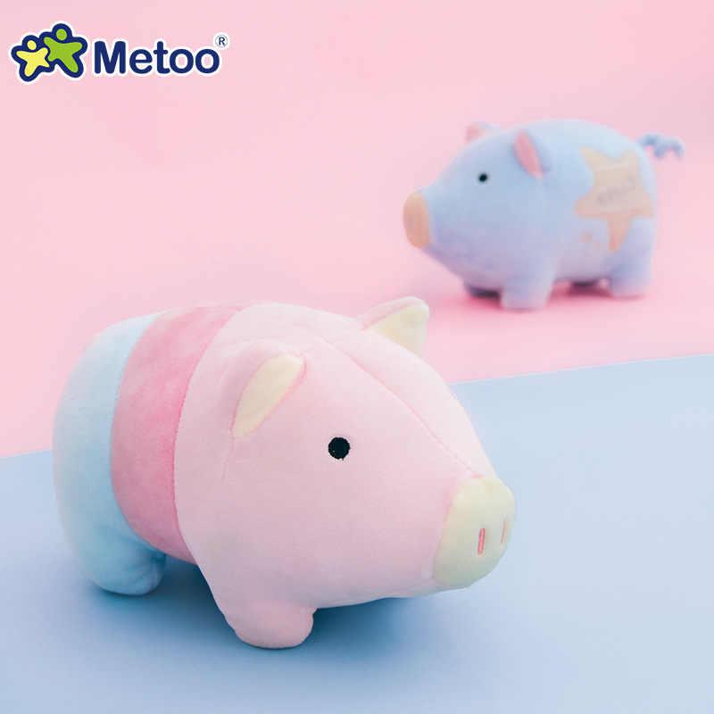 Kawaii Mini Plush ของเล่นเด็กทารกการ์ตูนตุ๊กตาหมูสีสันน่ารักของเล่นเด็กเด็กตุ๊กตาของเล่นทารกแรกเกิด Sleeping ของเล่น