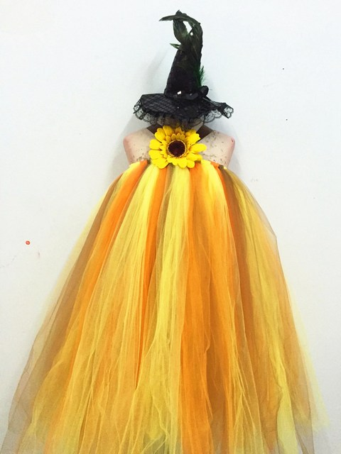 halloween costumes pumpkin festival party dress girls dress up dress 5 year old girl