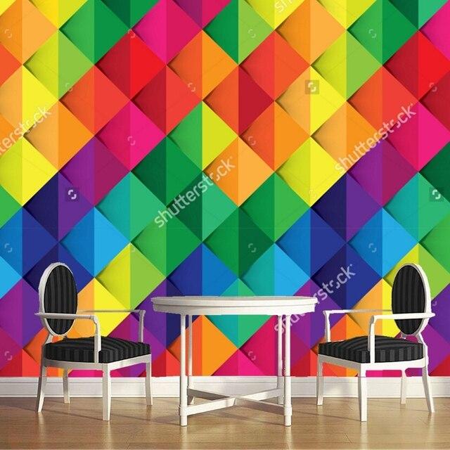 Carta da parati di colore colorato astratto sfondo 3d for Carta da parati per soggiorno moderno
