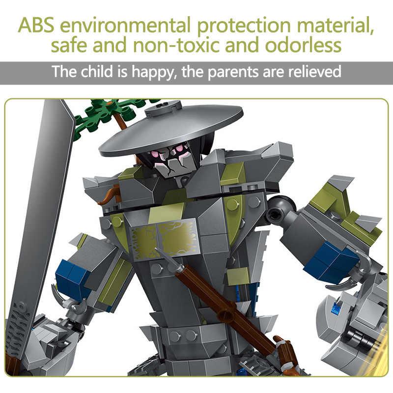 565 sztuk Oni Titan wojownik roboty Building Blocks kompatybilny Legoinglys marki przyjaciółmi klocki Model zestawy rysunek zabawki dla dzieci