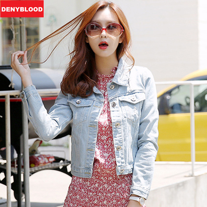 Aliexpress.com : Buy 2015 Women Denim Jacket Distressed Jeans ...