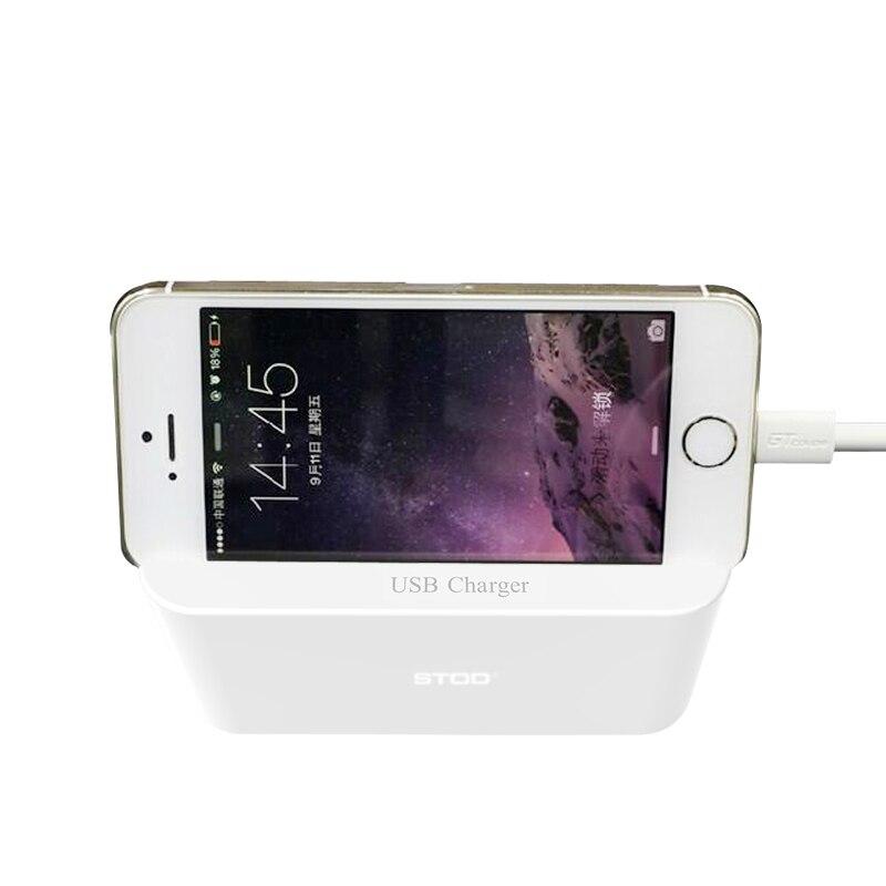 STOD 4 Port Smart USB Ladegerät LED Digital Display Telefonständer - Handy-Zubehör und Ersatzteile - Foto 4