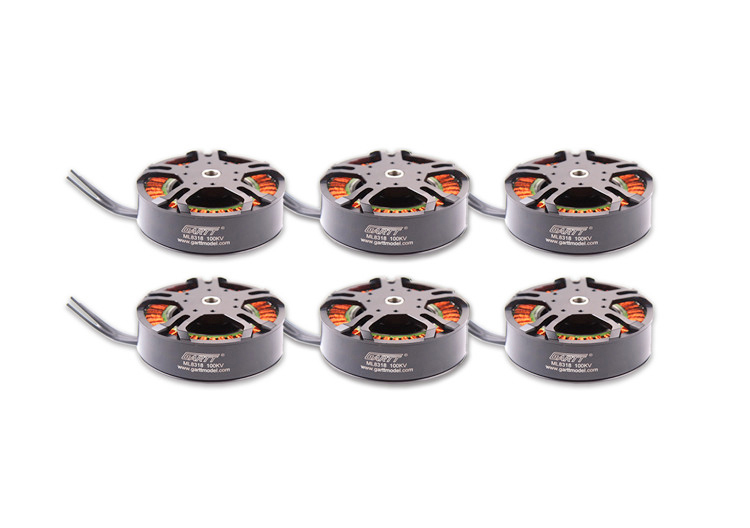 6pcs GH ML 8318 100KV Brushless Motor For porps multicopter Drone UAV 3080 gartt ml 8318 100kv brushless motor for 3080 porps multicopter drone uav