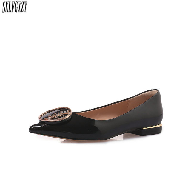 SKLFGXZY New spring 2019 leather women shoes 100% cowhide sheepskin insoles women shoes sizes 34-43