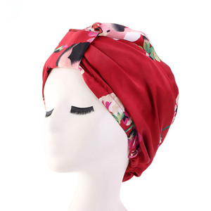 Image 2 - Muslim Women Silky Sleeping Turban Hat Cancer  Chemo Beanies Bonnet Cap Bandans Headwear Head Wrap Hair Accessories