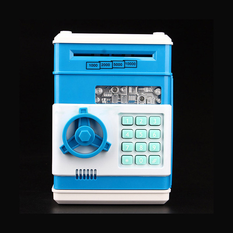 Automatic Roll Up Money Piggy Bank Code Digital Coins Cash Deposit Money Box Secret Mini ATM Machine Children Birthsay Gift
