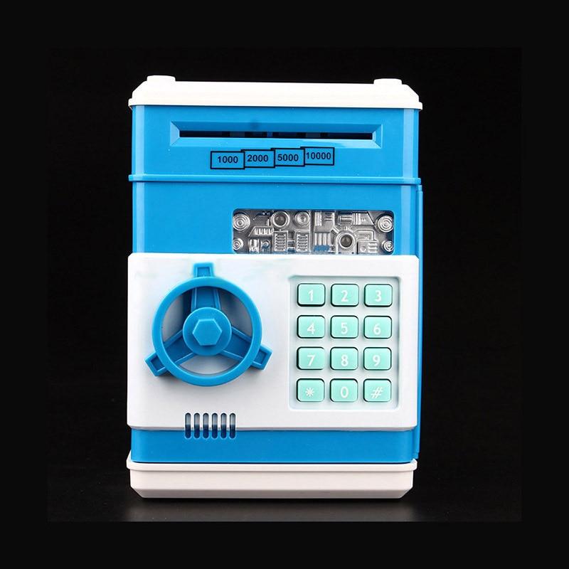 Automatic Roll Up Money Piggy Bank Code Digital Coins Cash Deposit Money Box Secret Mini ATM ...