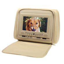 2pcs 7″ HD LCD Car Pillow Automobile Headrest Monitor DVD Player with 8 Bits and 32 Bits Games