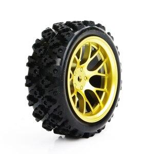 Image 4 - 4 stks/set racing off road banden 12mm hex rubber tyre wheel rim fit voor RC 1:10 voertuig auto truck speelgoed onderdelen accessoires