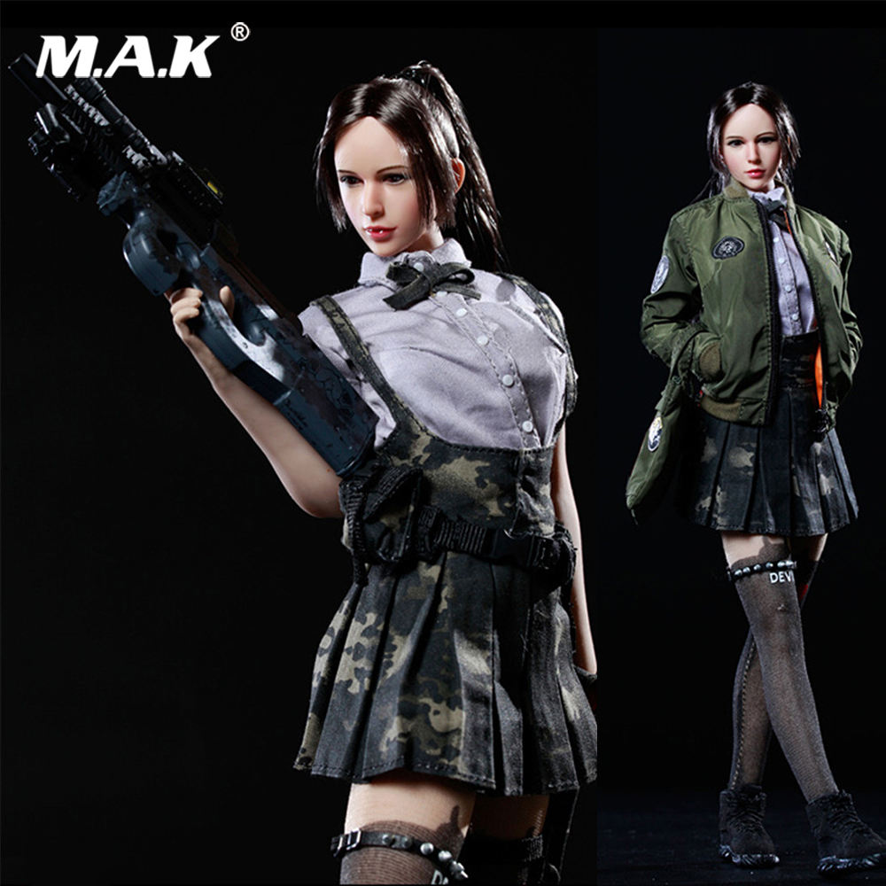 1/6 Scale Girl Clothes Accessory JK GIRL SET2 Armed Female Student School Suit Costume for 12