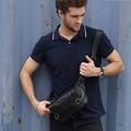 Men Genuine Leather Cowhide Vintage Bum Belt Pouch Multi-purpose Riding Motorcycle Messenger Shoulder bag Chest Bag