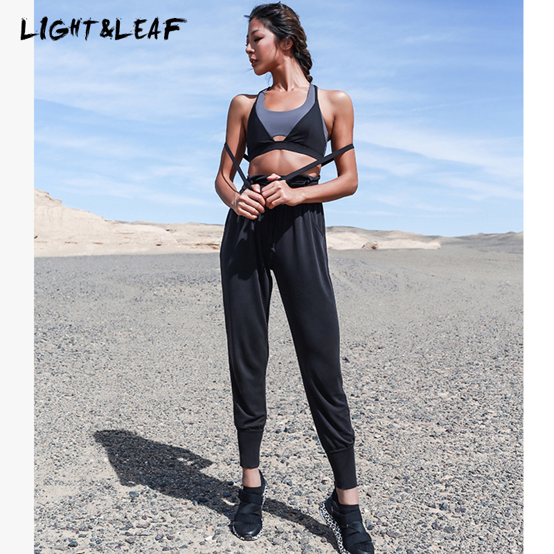 light amp leaf women Jumpsuits new fashion sequin jumpsuit Modal high quality comfortable Jumpsuits long pants women black jumpsuit in Jumpsuits from Women 39 s Clothing
