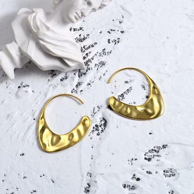 03e5aa6aeed9 Italia diseño moderno pendientes de oro 585 alta calidad joyería borla  pendiente geométrico lujo Bijoux para las mujeres