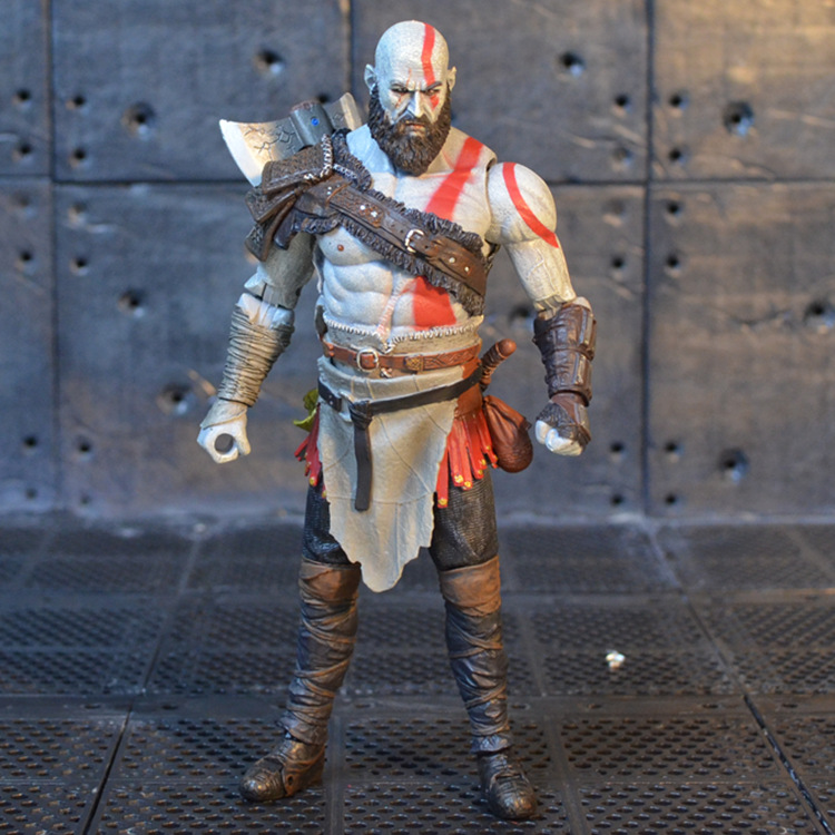 High Quality God of War 4 Kratos PVC Action Figure Collectible Model Toy in OPP Bag 18cm