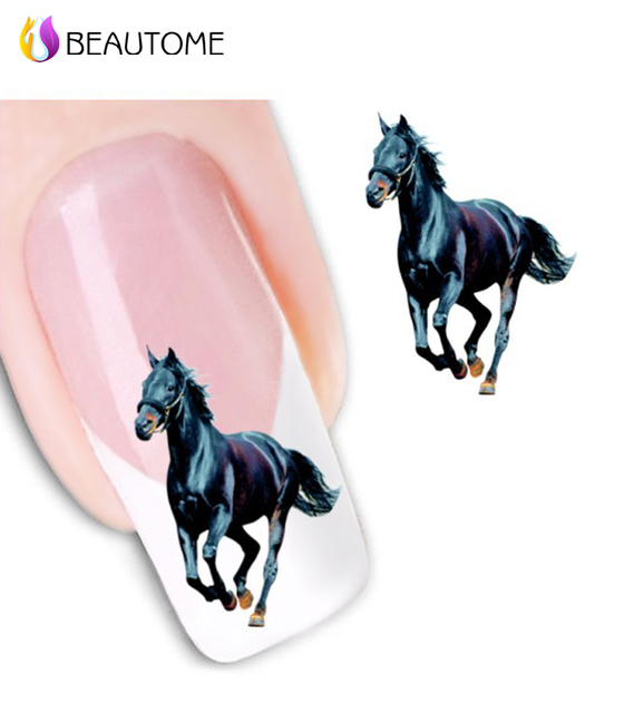 2016 Special Offer Real Nail Sticker Manicure Nails 1 Sheets Xf Water Horse Sticker Abroad Cheong Paragraph Atmosphere