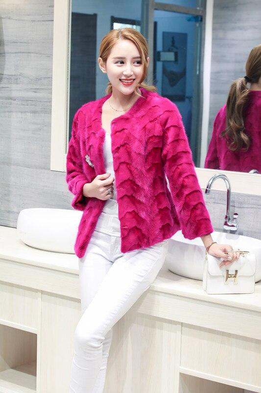 2018 womens nieuwe korte pieces mink bontjas Koreaanse nerts jas vrouwelijke jas jassen bovenkleding winter mode kleding D16-in Echt Bont van Dames Kleding op  Groep 1