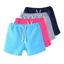 Новинка; шорты ярких цветов для девочек; популярные летние пляжные штаны шорты для мальчиков; детские брюки; детские штаны; 3722
