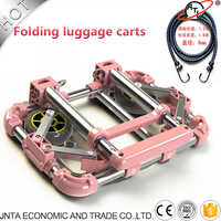 Auto accessories,folding luggage carts,car trolleys, wheelbarrow,oxidation-resisting steel material,easy to storage XL07
