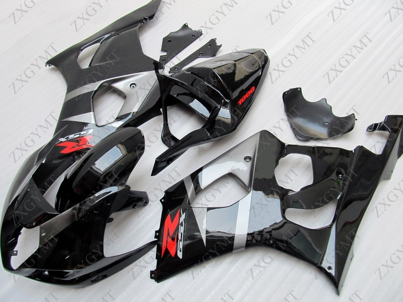 Bodywork for Suzuki GSXR1000 2003 - 2004 K3 glossy Black Abs Fairing GSX R 1000 2003 Fairings GSX-R1000 2003Bodywork for Suzuki GSXR1000 2003 - 2004 K3 glossy Black Abs Fairing GSX R 1000 2003 Fairings GSX-R1000 2003