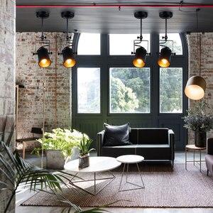 Image 4 - جديد الصناعية قلادة ضوء Vintage Loft قلادة ضوء الأضواء الأمريكية قلادة مصباح LED مصباح مطعم مقهى زخارف للحانات