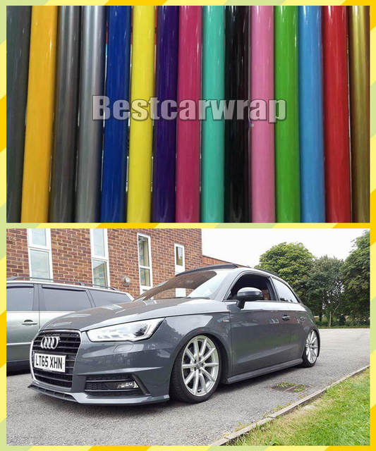 Various Color Gloss Vinyl Car Wrap Film With Air Bubble Free Quality