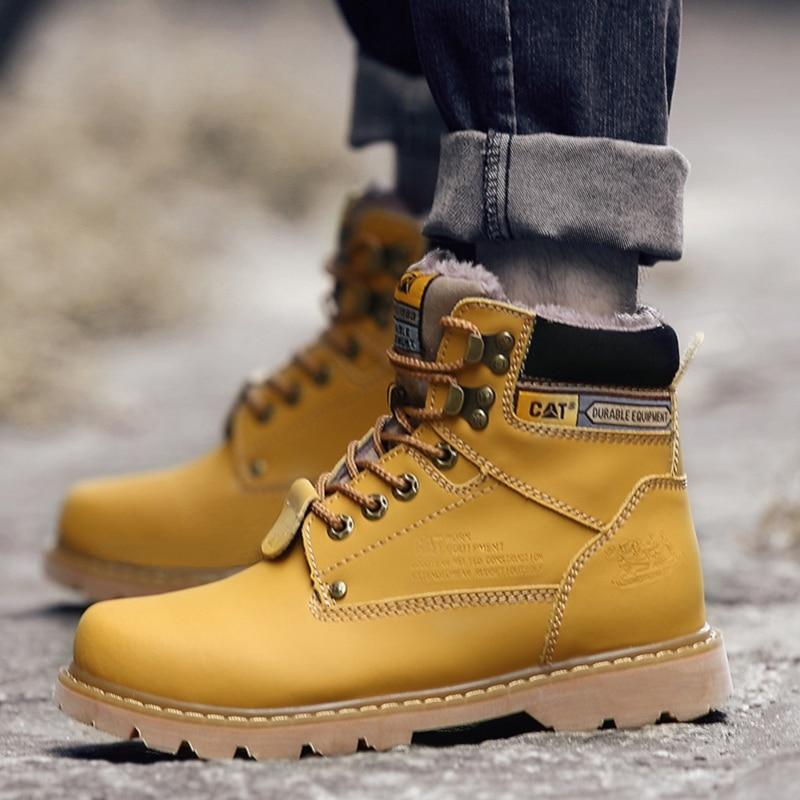 HYFMWZS con piel Unisex senderismo botas de cuero de los hombres zapatos al aire libre zapatos de las mujeres de la montaña zapatos de senderismo zapatos de invierno cálido Krasovk