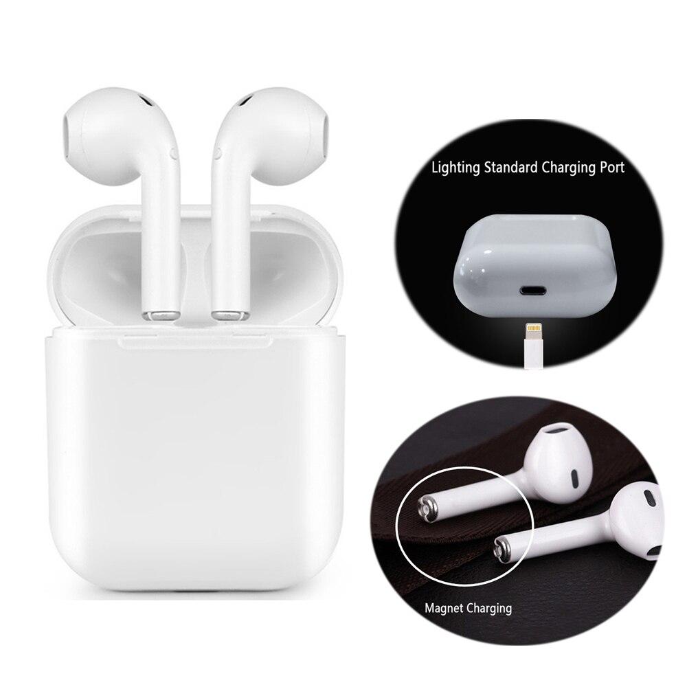 Cargador magnético auriculares caja IFANS I9 TWS auricular Bluetooth Mini inalámbrico en auriculares V4.2 auriculares estéreo para IOS Android