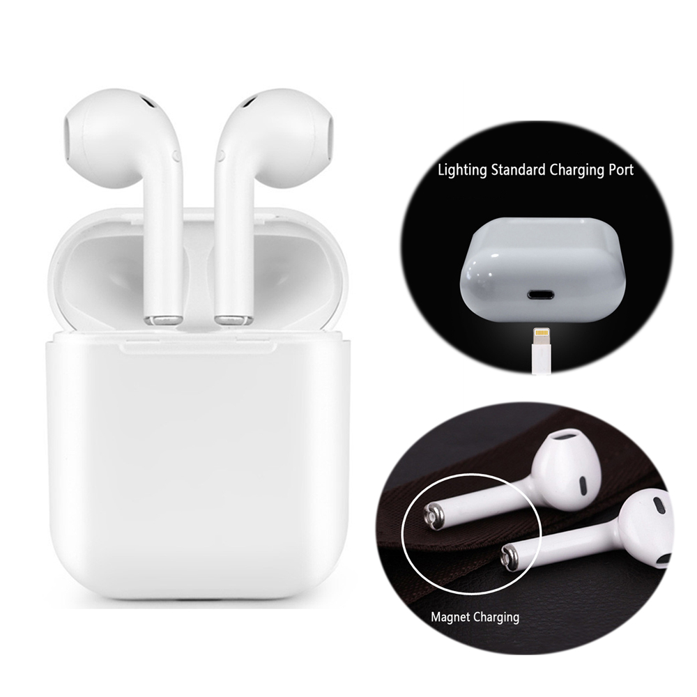 Cargador magnético caja auriculares IFANS I9 TWS auricular Bluetooth inalámbrico Mini en la oreja auriculares V4.2 auriculares estéreo para IOS Android