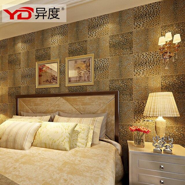Different degrees of Southeast Asian leopard texture wallpaper PVC  waterproof plaid wallpaper wallpaper bedroom living room