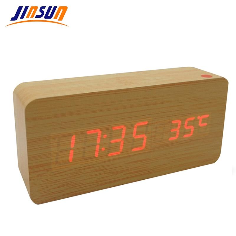 JINSUN Ελαφρύ Ξυπνητήρι Μοντέρνο Ξύλο - Διακόσμηση σπιτιού - Φωτογραφία 2