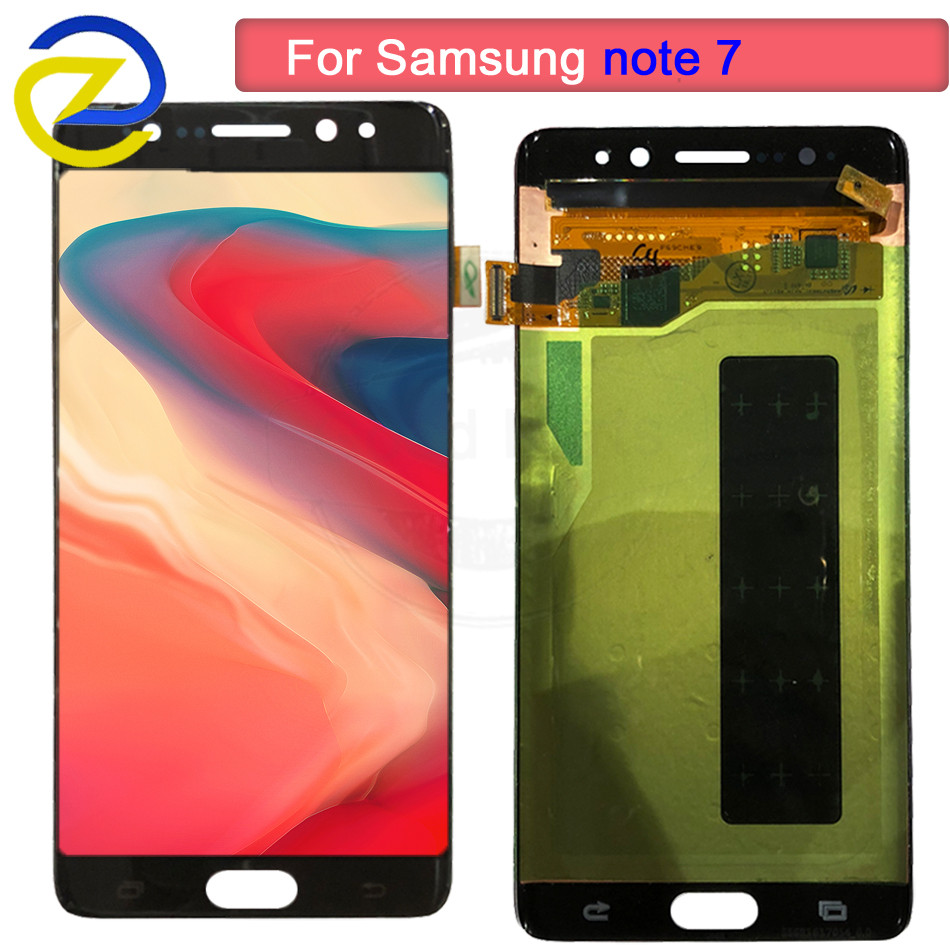 Pour Samsung Galaxy Note7 note FE 7 N930 N930F G LCD écran tactile 100% testé numériseur assemblée remplacement lcd + outils