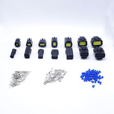 35 ensembles Kit 1/2/3/4/6/8/10 broches manière Denso connecteur de fil scellé pour voiture Auto