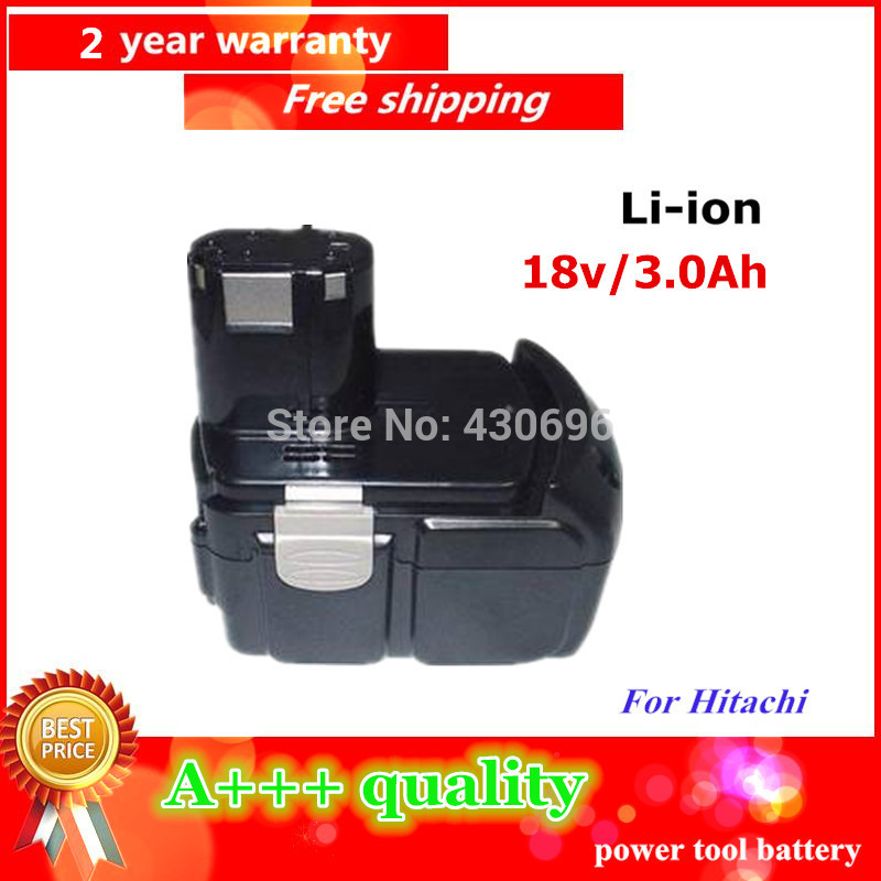 NEW 18v 3.0Ah Li-ion Replace power tool battery For HITACHI BCL1815, EBM1830 C18DL C18DLP4 C18DLX C18DMR C6DC C6DD CJ18DL eleoption 2pcs 18v 3000mah li ion power tools battery for hitachi drill bcl1815 bcl1830 ebm1830 327730