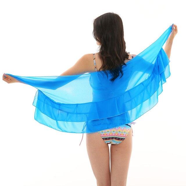 Women Chiffon Sunscreen Shawl Beach Bikini Swimwear Wrap Coverup Skirt Swimsuit Skirt Women Cute Sweet Girls Dance Skirt Юбка 4