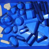 DIY cuero artesanía 20 piezas redondo rectángulo forma etiqueta troquelado cuchillo molde plantilla conjunto