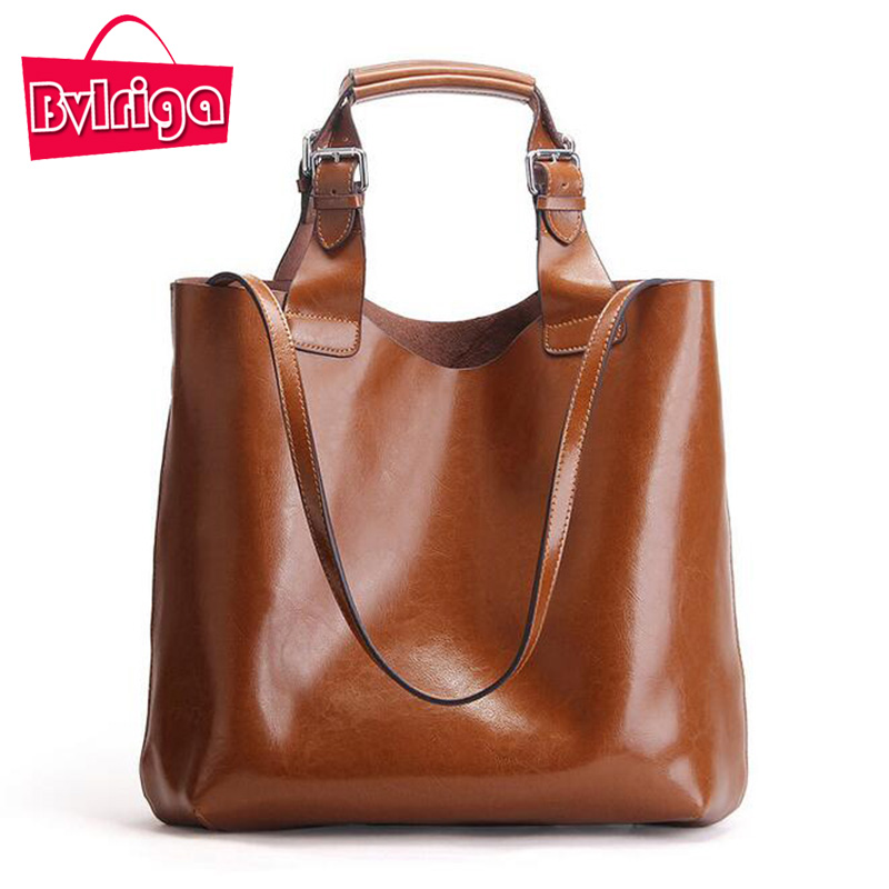 BVLRIGA Genuine Leather Bag Women Bag Handbags Women Messenger Bags Designer Fashion Brand Top handle Bags