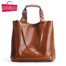 BVLRIGA Echtem Leder Frauen Tasche Handtaschen Frauen Messenger Bags Designer Fashion Brand Top-griff Taschen Öl Leder