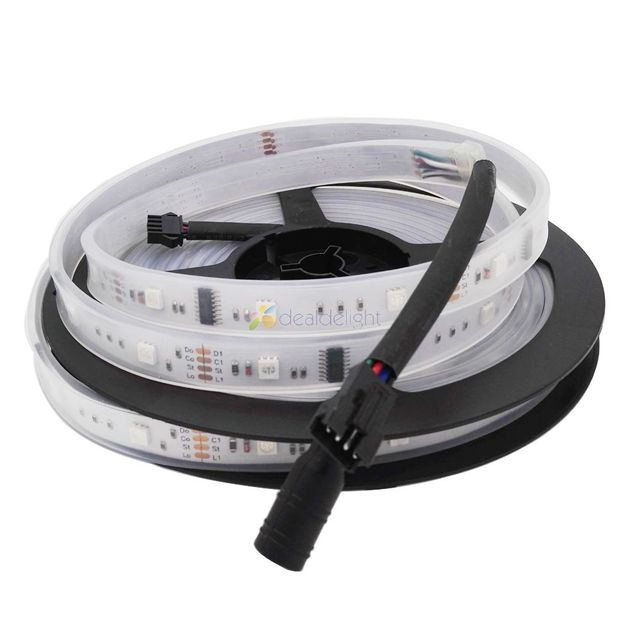 5m 6803 IC 5050 digital RGB LED Strip,150LED IP67 waterproof dream magic color 6803 Led Strip 5050,30LED/m DC12V