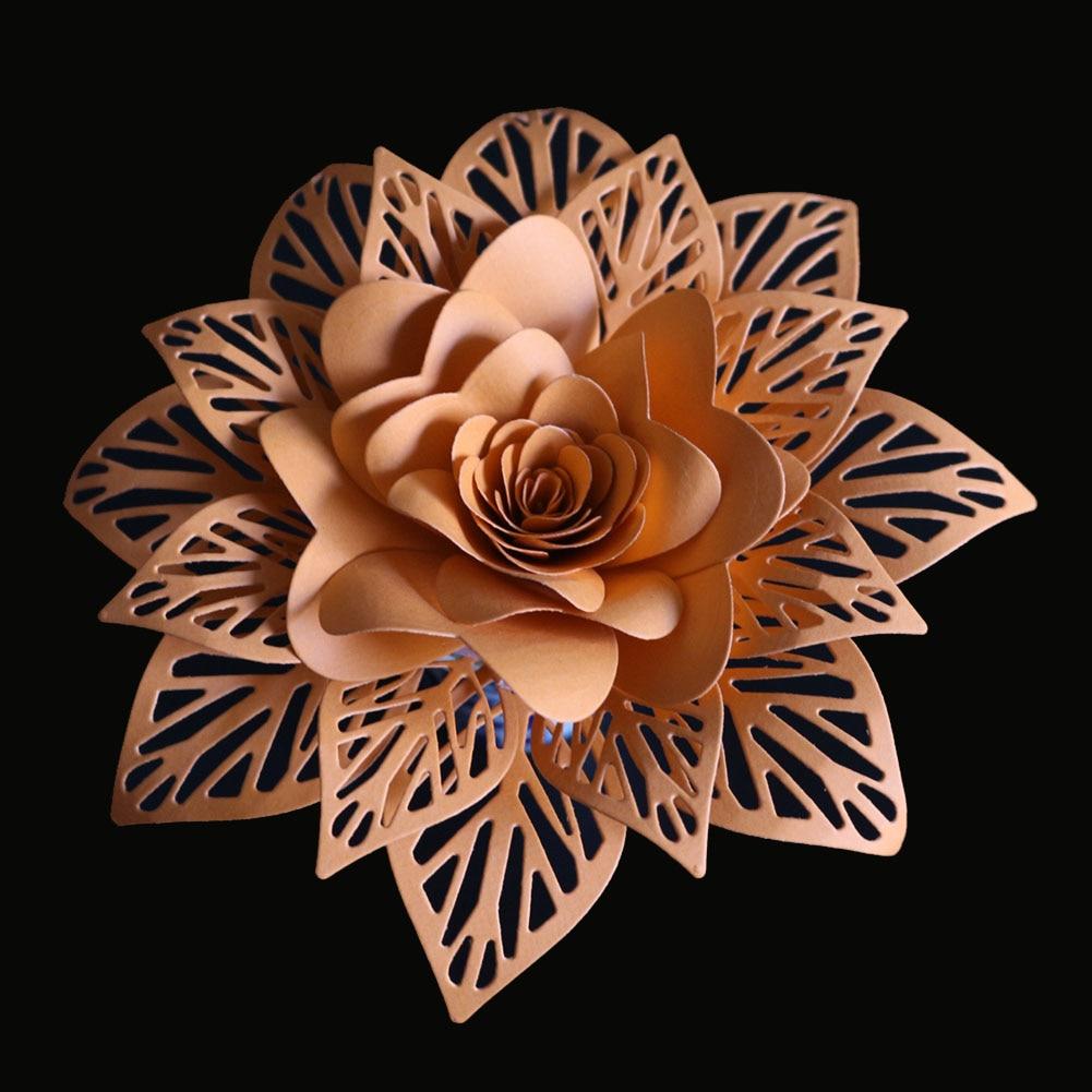 3D Flowers Leaves Stencil Metal Cutting Dies Scrapbooking Craft Dies Stamps and Dies Stitch Arrivage Snijmal En Embossing New
