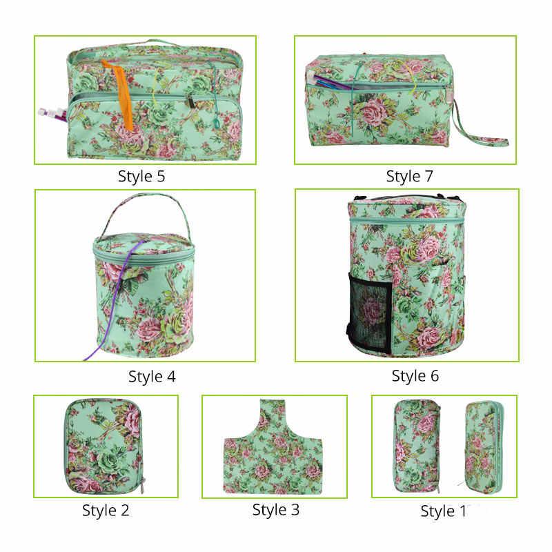 Looen 空糸収納袋 DIY 織り編みフックバッグ 7 スタイルかぎ針ためフックとニットバッグとニット縫製