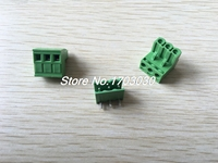 150 Pcs 5 08mm Close Angle 3 Pin Screw Terminal Block Connector Pluggable Type