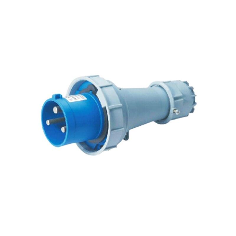 125A 3Pin Novel industrial plug connector SFN-0432 cable connector 220-250V~2P+E Waterproof IP67  63a 3pin 220 240v industrial waterproof concealed appliance plug waterproof grade ip67 sf 633