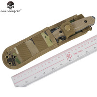 EMERSON Tactical Straight Knife Dummy With Multicam Nylon Knife Shealth Knife Model And Pouch For Outdoor