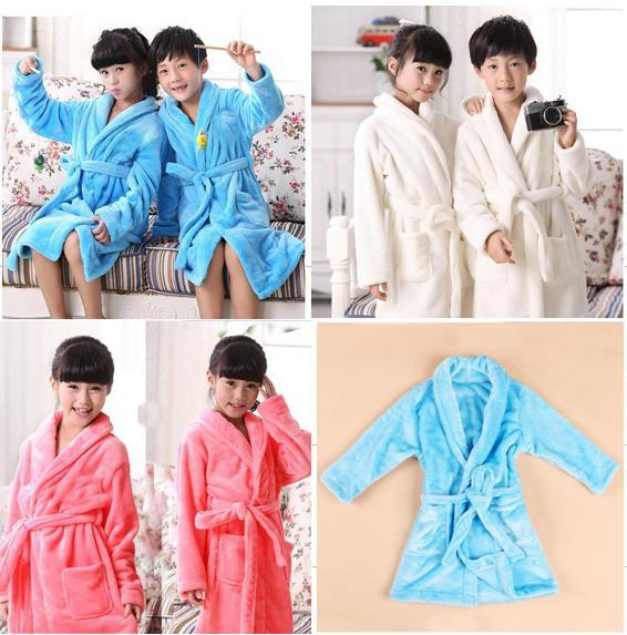 MIANLAIXIANG Fashion Boys&Girls Robe Children's Coral Velvet Bathrobes Dressing Gown Kids pastoral coral velvet large area rug