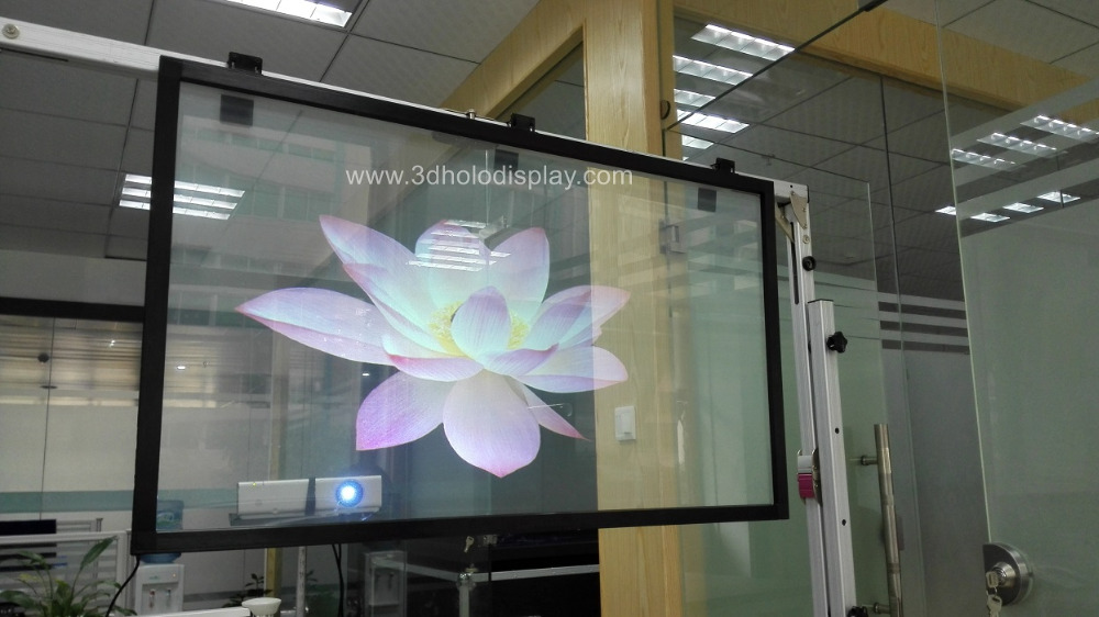 High Quality 1.52x30 Meter Transparent Rear Projection Film Transparent Screen free shipping 24 dark gray gray white holographic rear projection screen transparent rear projector film indoor hologram advertising