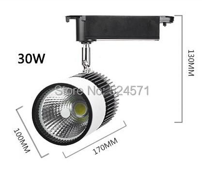 Wholesale 30w Cold White/White/Warm White high power led track light, COB spot light  light ,AC85-265V,3years warranty.