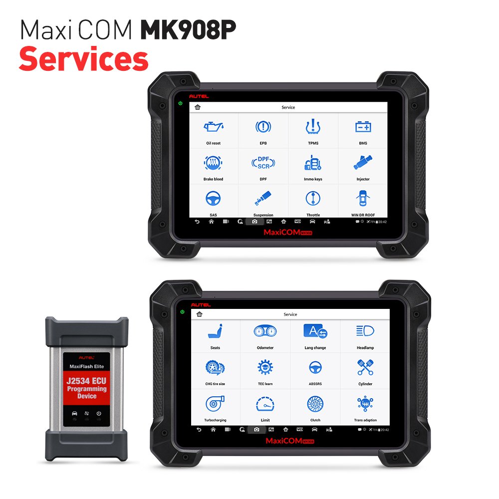 Image 2 - Autel MaxiCOM MK908P OBD2 Automotive Diagnostic Tool Scanner Analysis System OBDII ECU Advanced Coding Programmer PK MS908 Pro