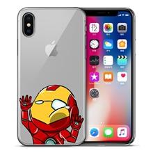 Marvel Avengers Case For iPhone XS Max XR X 7 6s 8 Plus 5S SE Super Iron Man Spiderman Deadpool phone Cases Cover Etui Coque