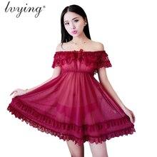 New Women Pyjamas Sexy Lace Nightgown Lingerie Dew Shoulder Night Dress Sleepwear Romantic Charming Nightwear Nighty Nightdress