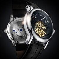 Nesun механические часы Для Мужчин Скелет Винтаж автоматические механические тourbillon мужские водонепроницаемые часы Self заводные часы